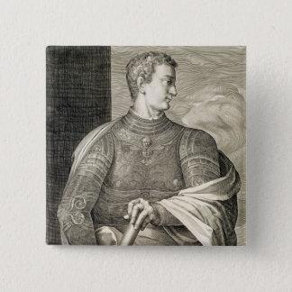 ローマのGaiusシーザー「Caligula」(12-41広告)皇帝 5.1cm 正方形バッジ