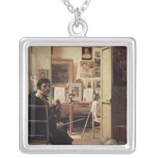 ローマのIngres、1818年のスタジオ シルバープレートネックレス