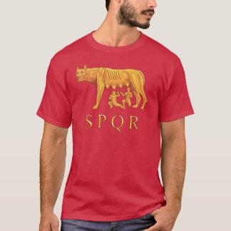 ローマのRomulus、Remusおよび彼女オオカミのグラフィックのTシャツ Tシャツ