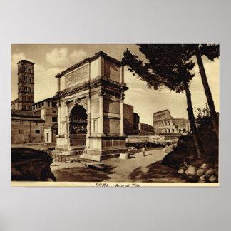 ローマのTitusのアーチ ポスター