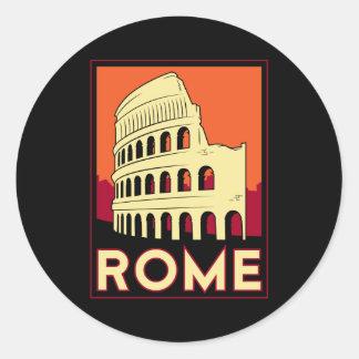 ローマイタリアのコロシアムのヨーロッパのヴィンテージのレトロ旅行 ラウンドシール