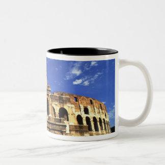 ローマイタリアのコロシアムの有名な台なし ツートーンマグカップ