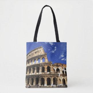 ローマイタリアのコロシアムの有名な台なし トートバッグ
