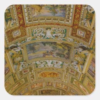 ローマイタリアのバチカン博物館の天井 スクエアシール