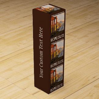 ローマイタリアのヴィンテージ旅行カスタムのワイン用化粧箱 ワインギフトボックス
