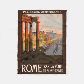 ローマイタリアのヴィンテージ旅行フリースブランケット フリースブランケット