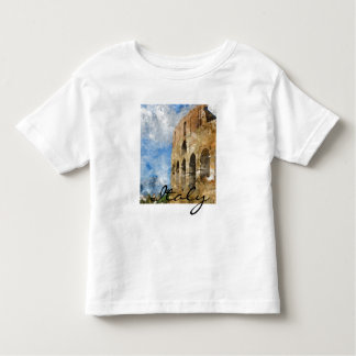 ローマイタリアの水彩画のColosseum トドラーTシャツ