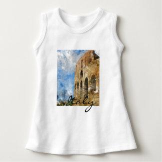 ローマイタリアの水彩画のColosseum ドレス
