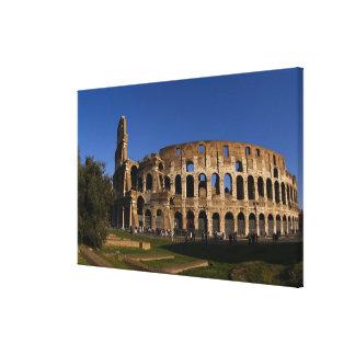ローマイタリアの陸標2の有名なColosseum キャンバスプリント