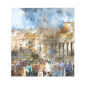 ローマイタリアのSt Petersのバシリカ会堂バチカン ノートパッド