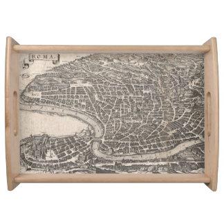 ローマイタリア(1652年)のヴィンテージの地図 トレー