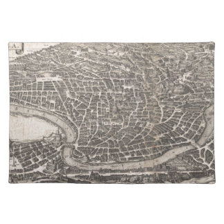 ローマイタリア(1652年)のヴィンテージの地図 ランチョンマット