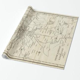 ローマイタリア(1821年)のヴィンテージの地図 ラッピングペーパー