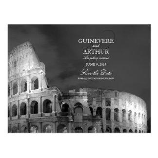ローマイタリアColosseumの結婚式の保存日付 ポストカード