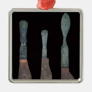 ローマポンペイc.100 BC-79の広告からの3本のナイフ メタルオーナメント