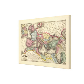 ローマ帝国の地図 キャンバスプリント