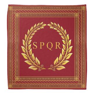 ローマ帝国SPQRおよび月桂樹のバンダナ ハンカチーフ