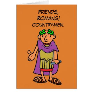 ローマ皇帝のハッピーバースデーの挨拶 カード