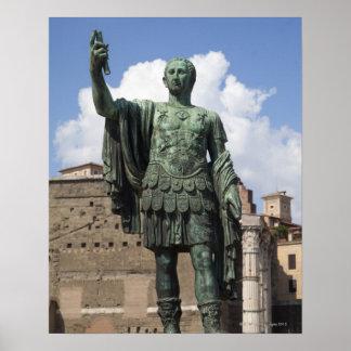 ローマ皇帝の彫像 ポスター