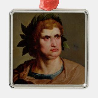 ローマ皇帝、多分Nero c.1625-30 メタルオーナメント