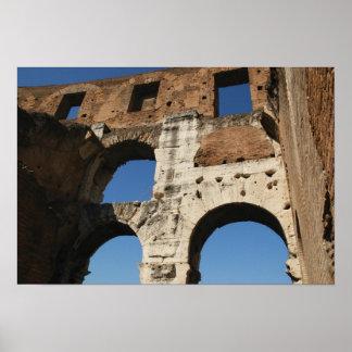 ローマ芸術。 ColosseumかFlavian 4 ポスター
