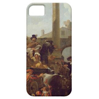 ローマ1653年のカーニバルの時間(キャンバスの油) iPhone SE/5/5s ケース