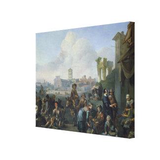 ローマ1668年の眺め キャンバスプリント