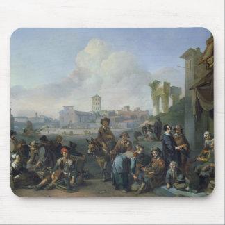 ローマ1668年の眺め マウスパッド