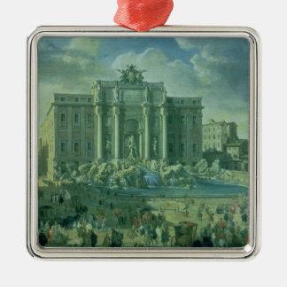 ローマ1753-56年のTreviの噴水 メタルオーナメント