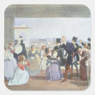 ローマ1842年の10月のお祝い スクエアシール