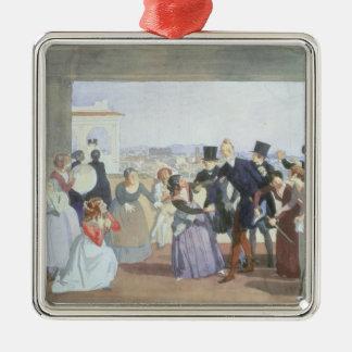 ローマ1842年の10月のお祝い メタルオーナメント