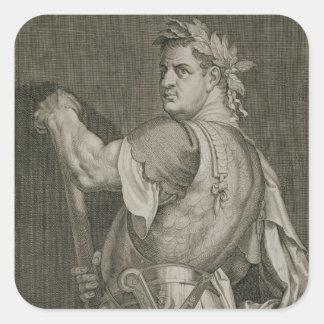ローマ79-81の広告のengravのD. Titus Vespasian皇帝 スクエアシール