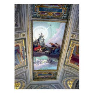 ローマ、イタリアののバチカン博物館の天井郵便はがき ポストカード