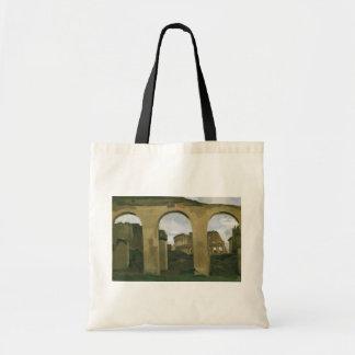 ローマ、イタリアのアーケードを通して見られるColosseum トートバッグ