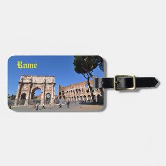 ローマ、イタリアのアーチ ラゲッジタグ