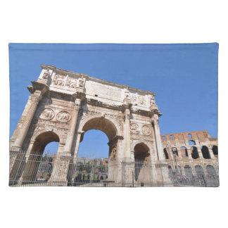 ローマ、イタリアのアーチ ランチョンマット