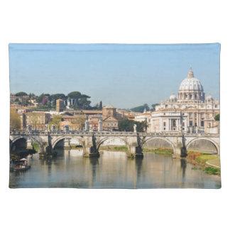 ローマ、イタリアのイタリアンな建築 ランチョンマット
