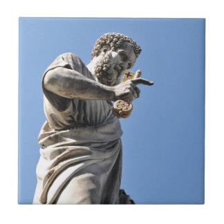 ローマ、イタリアのセントピーターの彫像 タイル