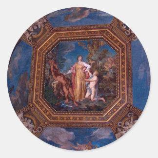 ローマ、イタリアのバチカンの天井 ラウンドシール
