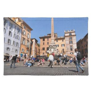 ローマ、イタリアの正方形 ランチョンマット