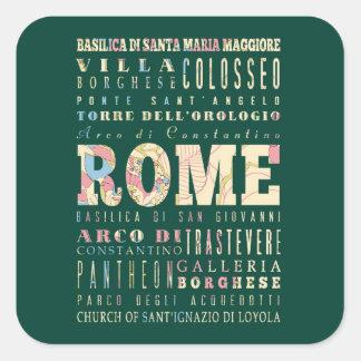 ローマ、イタリアの魅力及び有名な場所 スクエアシール