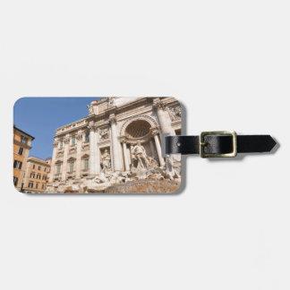 ローマ、イタリアのFontana di Trevi ラゲッジタグ