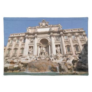 ローマ、イタリアのFontana di Trevi ランチョンマット