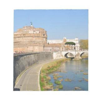 ローマ、イタリアのSant'Angeloの城 ノートパッド