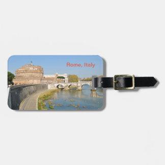 ローマ、イタリアのSant'Angeloの城 ラゲッジタグ