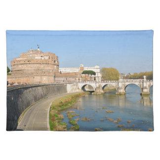 ローマ、イタリアのSant'Angeloの城 ランチョンマット