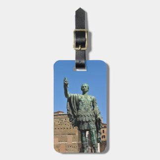 ローマ、イタリアのTrajanの彫像 ラゲッジタグ