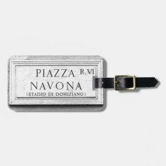 ローマ、イタリア-広場Navona ラゲッジタグ