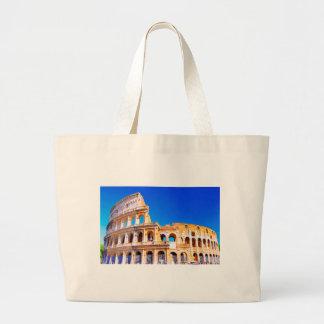 ローマ、イタリア- Colosseum ラージトートバッグ
