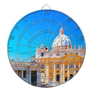 ローマ、イタリア- St Petersのバシリカ会堂 ダーツボード